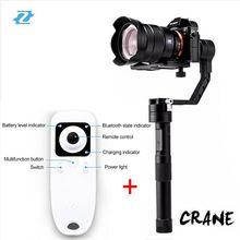 Zhiyun Grúa Mirroless cámara Cardán con Palanca de control remoto inalámbrico a7s gh4 bmpcc para canon 7d 6d cardán estabilizador v ds1
