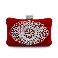 Sovela Brand Cell Phone Pocket Flap Women Evening Bags Heavy Diamond Velvet Dinner Bag Handbag Bride Banquet Handbags Purse Sac