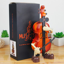 New swing cello music box young man manual clockwork home desktop decoration 10.0*6.0*21.0 cm