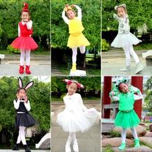 Детский костюм животного для косплея: лягушка, кролик, медведь, слон, мышь, пчела, лиса, краб, лиса, костюм животного для косплея, повязка на голову, жилет, юбка, перчатки, обувь для детей