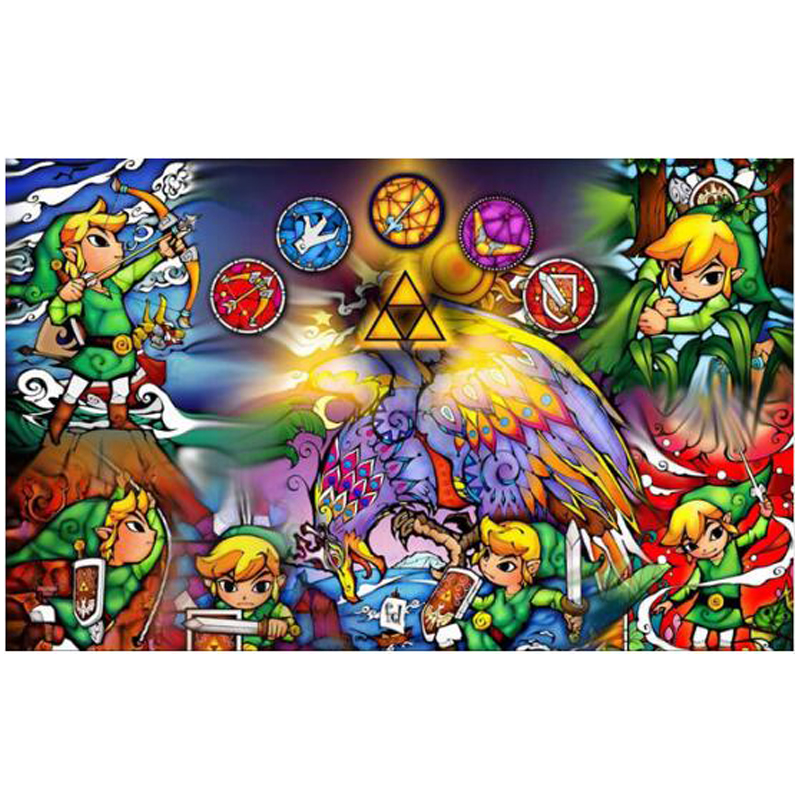 <font><b>Legend</b></font> <font><b>of</b></font> <font><b>zelda</b></font> 5D DIY <font><b>Diamond</b></font> <font><b>Painting</b></font> Cross Stitch Kit Full Square <font><b>Diamond</b></font> Embroidery <font><b>Diamond</b></font> Mosaic Needlework image