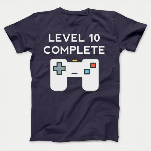 Level 10 Complete Funny Video Games Contoller 10th Birthday Youth Men Summer Short Sleeves