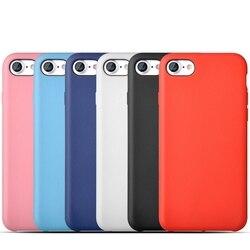 Simple Mode Pure Couleur Étui En Silicone Souple Pour iPhone 6 6 s 6plus 7plus 7 plus 8 X tapis De haute Qualité TPU Couverture Originale Gel Capa