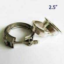 2,5 дюйма металлическая гайка из нержавеющей стали 304 быстроразъемный v-образный зажим для турбо выхлопная труба Быстрый vband комплект
