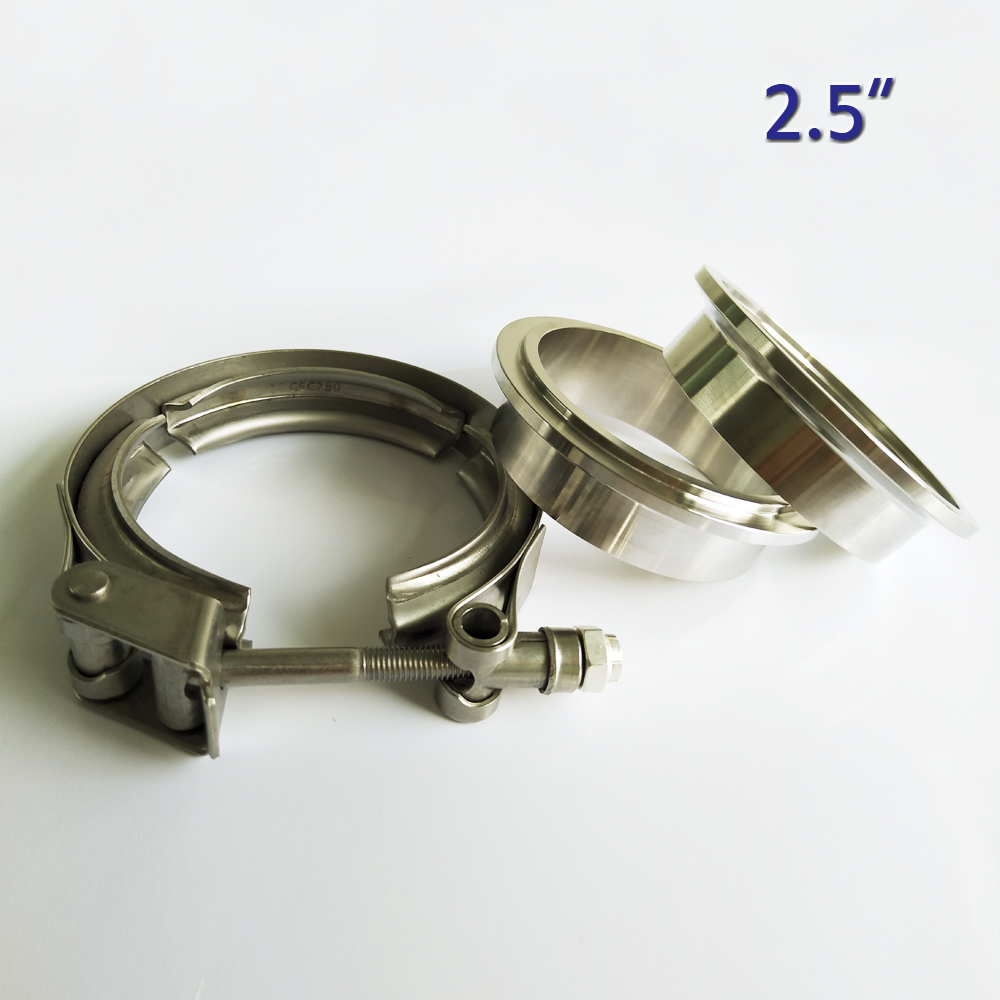 2.5 Inch Metal Clench Nut  Stainless Steel 304 Quick Release V Band Clamp   For Turbo Exhaust Downpipe Quick Vband Kit