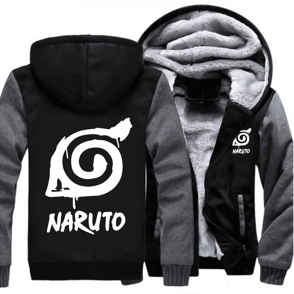 USA size Anime font b NARUTO b font Sweatshirt font b Cosplay b font Zipper Jacket