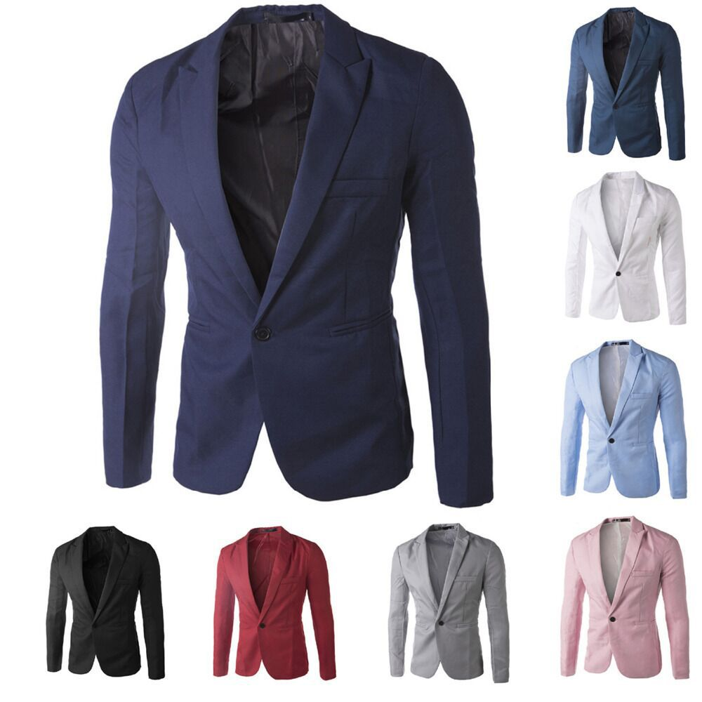 White stylish blazer for men