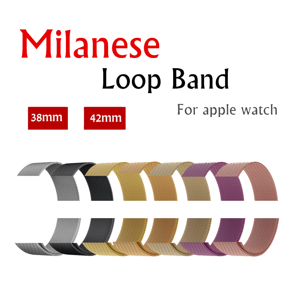 Milanese Loop strap band For Apple Watch 42mm/38mm iwatch 3/2/1 Stainless Steel Link Bracelet wrist watchband magnetic buckle milanese loop watchband for fitbit charge 2 smart watch band stainless steel strap magnetic buckle wrist bracelet black silver