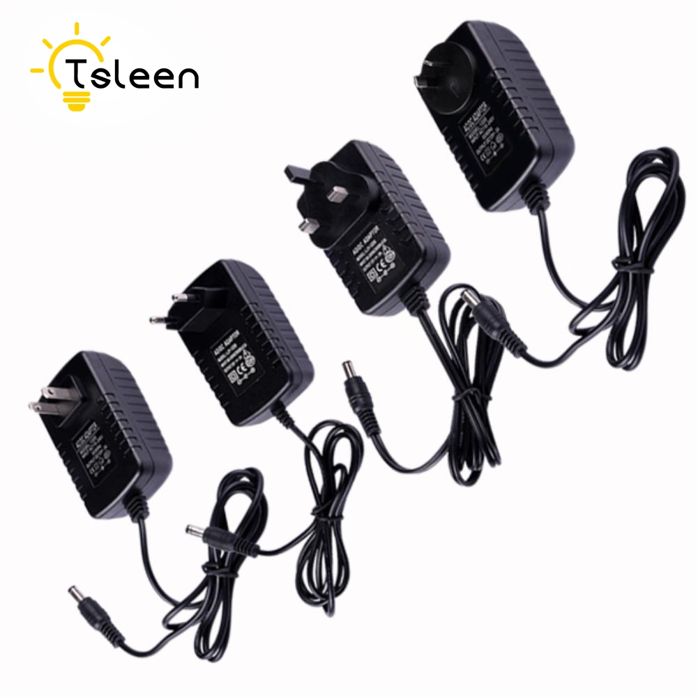 TSLEEN Cheap! 12V 2A Micro Usb AC DC Power Adapter EU US UK Plug Charger Supply For Raspberry Pi Zero Tablet Pc LED Strip Lights