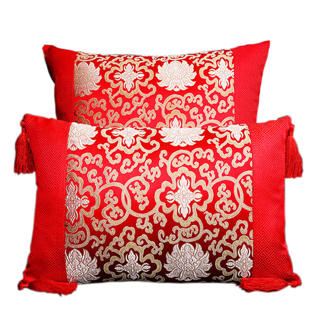 Classic Patchwork Floral Silk Pillowcases Decorative Pillows Cushion High Quality Home Office Chair Couch Cushion Cover