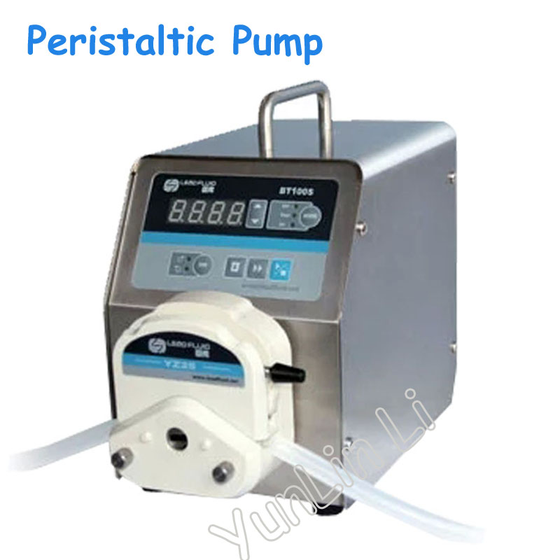 Speed Control Peristaltic Pump Led Digital Display Low Flow Precise Variable Pump for Water Pumps Fluid BT100S ZY15