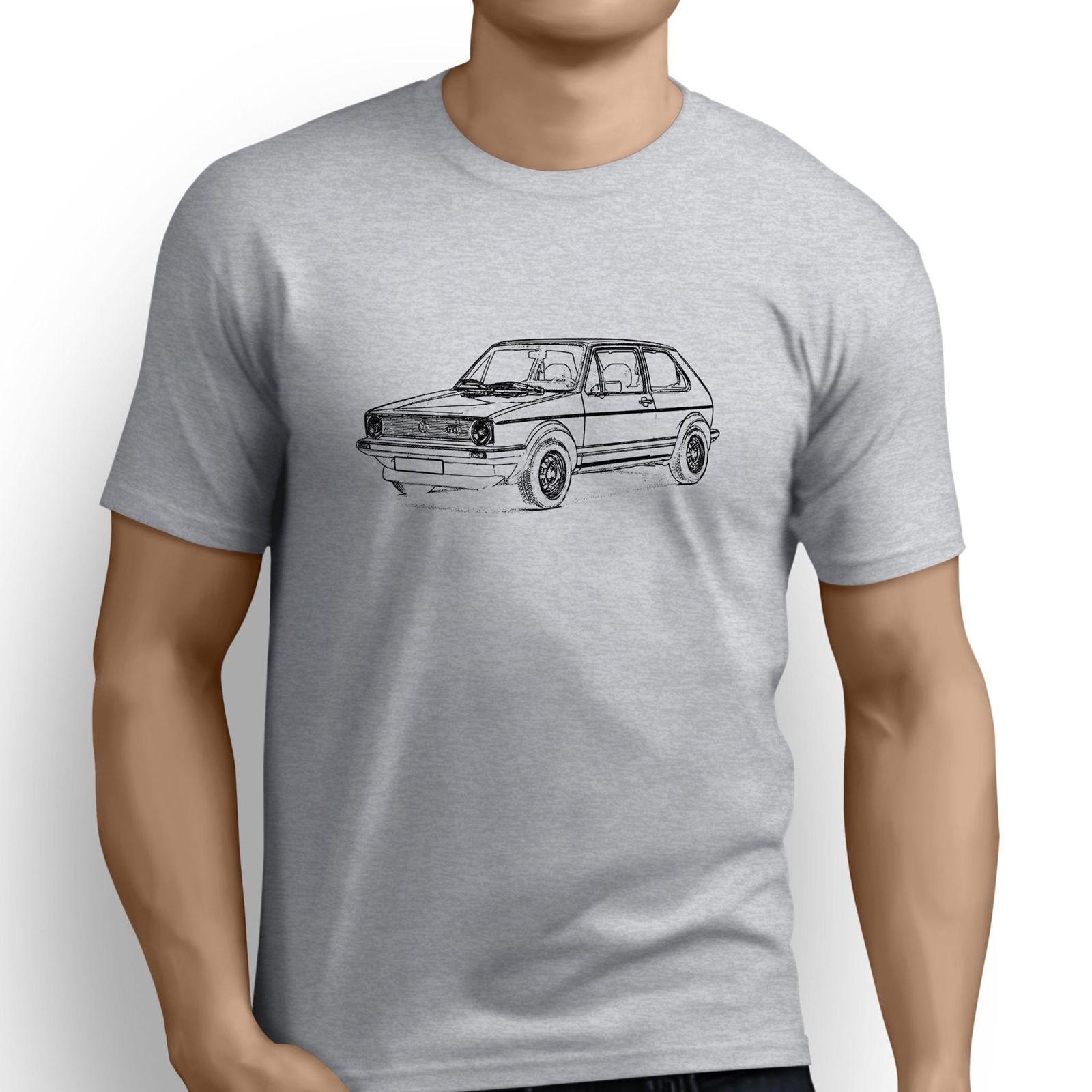 Pure Cotton Round Collar Men Japanese car fans Golfs GTI Mk1 Inspired Car Art Mens T-Shirt