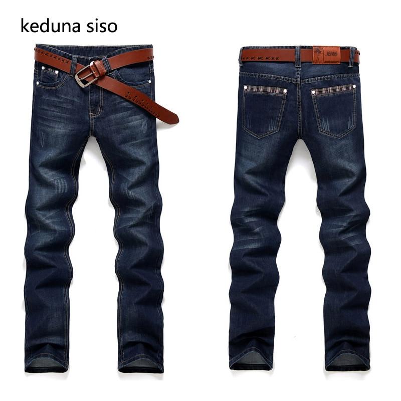 2018 New Fashion Design Straight Mens Biker Jeans Men homme Casual Blue Denim Mens Cloth ...