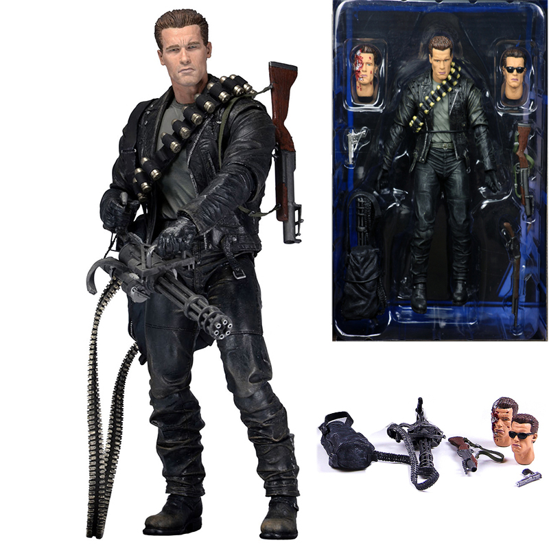 NECA Terminator 2: Judgment Day T-800 Arnold Schwarzenegger PVC Action Figure Toy Doll Gift