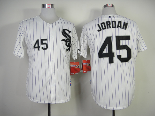 086333bf424 NWT Cheap Chicago White Sox Michael Jordan 45 Jersey Black Grey White  throwback Baseball Jerseys Embroidery logo Best Quality-in Baseball Jerseys  from ...