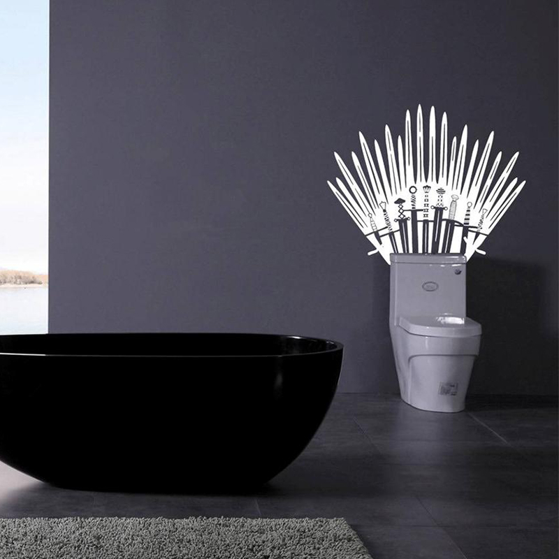 Iron Throne Toilet Decal Wall Sticker Home Decor Parody Inspired By
