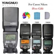 YONGNUO Вспышка Speedlite YN560IV YN660 YN685 YN600EX-RT Для Canon Nikon Камеры 2.4 Г Беспроводной HSS 1/8000 s Мастер Радио Раб