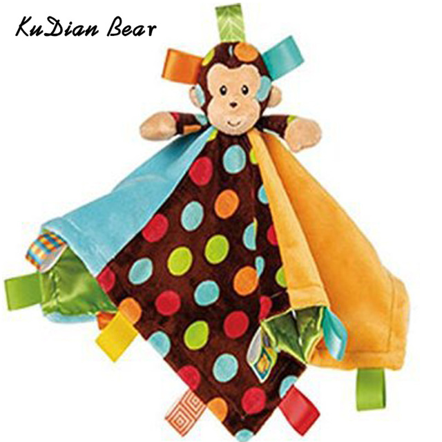 KUDIAN BEAR Baby Infant Soft Appease Toys Towel Playmate Calm Doll Teether Developmental Monkey Newborn Towel MKA105 PT49