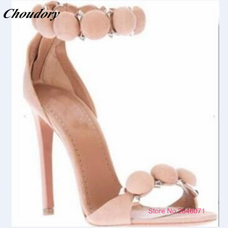 ФОТО 2017 New Rome Style Sexy High heels Sandals Woman Suede Ankle-Wrap Woman Gladiator Sandals Sexy Summer Party Shoes Bridal Shoes