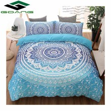 GOANG bedding set Duvet Cover bed sheet Pillow Cases 3D digital printing Mandala flowers 3pcs bedding set luxury home textiles striped bedding 3pcs duvet cover set digital print