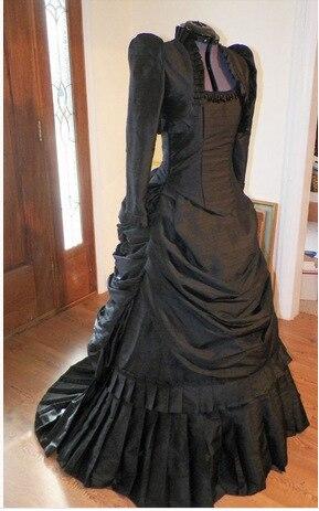 Black Ball Gothic Victorian Dress