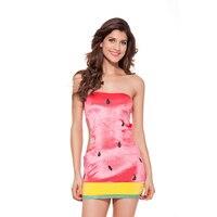 Sexy Ausschnitt Fräulein Wassermelone Obst Kostüm für Halloween Party Karneval Kostüme Sexy Engen Modernen Kostüm Kleid L1182