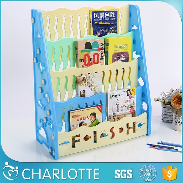 Kids Movable Book Self Oxford Material Children Bookshelf For Comic Books Cabinets Bookcases Library Storage