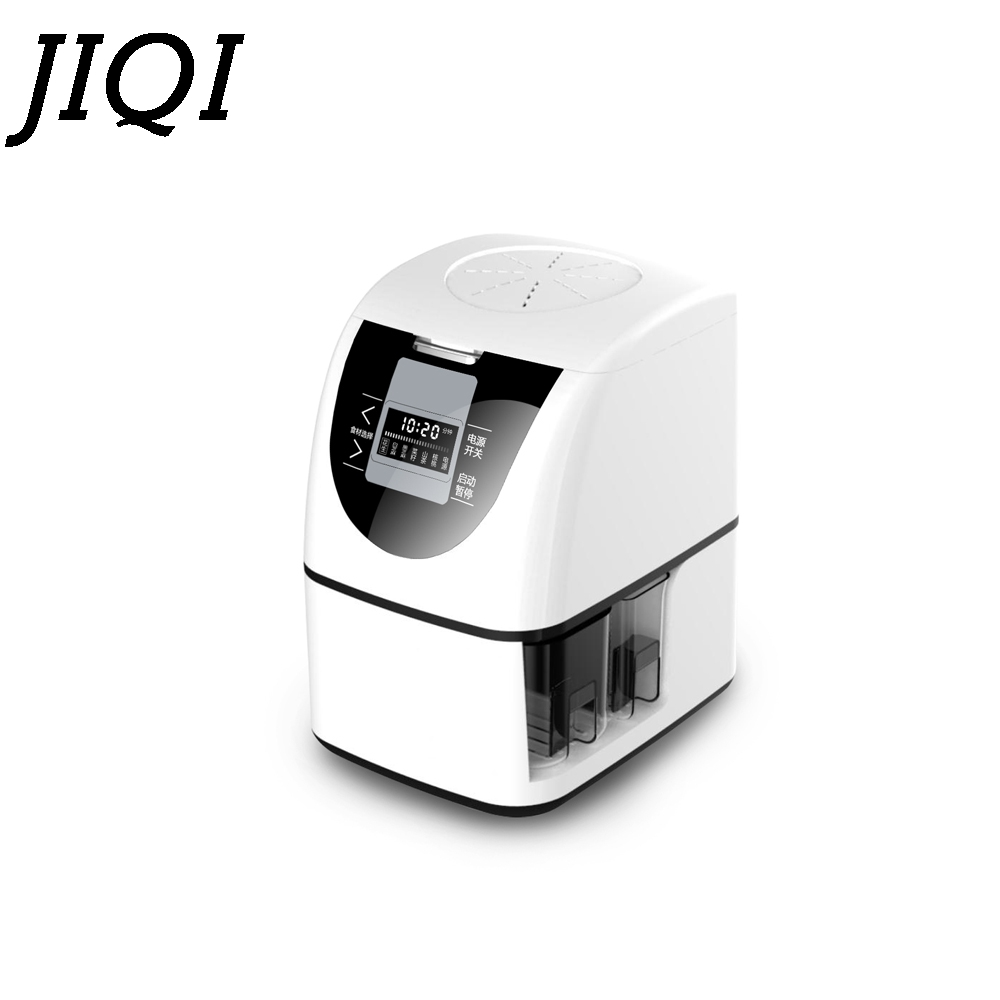 JIQI MINI household seeds Oil Hot Cold Press Machine seeds Peanut Oil Presser automatic electric Oil Expeller Extractor EU plug mini automatic oil press machine commercial home oil extractor expeller presser hot and cold press seed oil making machine zf