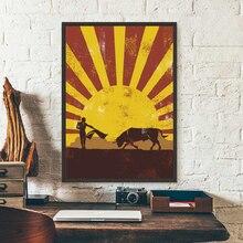 Maravilloso toreo español Vintage Poster arte lienzos de pintura impresos silueta Retro imagen para pared de salón arte Decoración