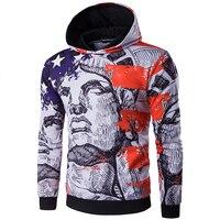 New Arrival 2017 Spring Men S American Flag Hoodies 3D Printing Sweatshirt Assassins Creed High Quality