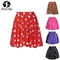 Polka Dot Puff Bust Skirt Stylish Women Pleated Skater Skirt Dots Ball Gown Mini Skirts Saia Colored Short Skirt