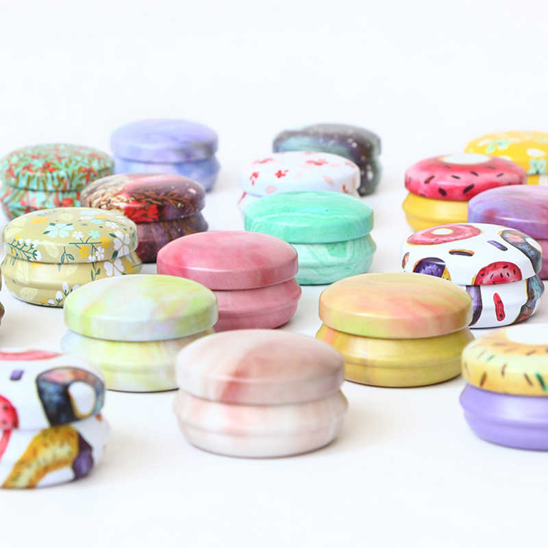 12 pcs/set Europe type circular MiNi iron box candy storage box wedding Jewelry Pill Cases tin box cable organizer container