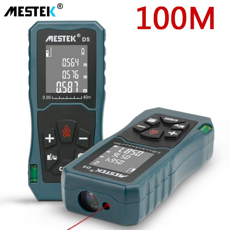 MESTEK Laser Distance Meter 40/60/100m Laser Meter Trena a Laser Range Finder Metro Laser Build Measure Device Ruler Test Tool-in Laser Rangefinders from Tools