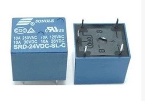 5PCS Relay DC 24V 5 Pin Mini Power Relays PCB Type SRD-24VDC-SL-C High quality jtron 5 pin power relay black 24v 10a 2 pcs