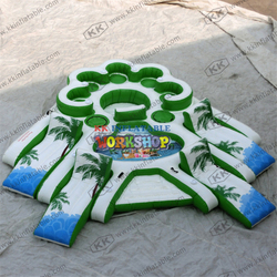 Large inflatable water park,Inflatable water leisure floating bed