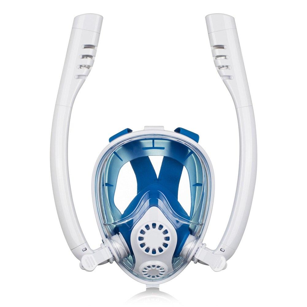 Sports Snokel étanche à sec Silicone masque de plongée sous-marine été natation Anti brouillard visage complet outil de plongée en apnée formation sous-marine
