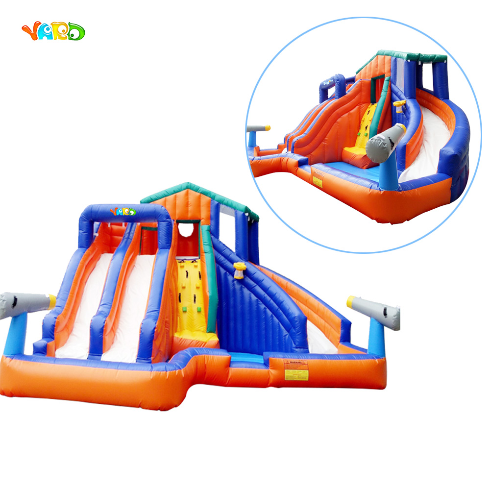 Free Shipping Inflatable Slide Water Trampoline with Basketball Hoop and Water Gun inflatable water slide bouncer inflatable moonwalk inflatable slide water slide moonwalk moon bounce inflatable water park