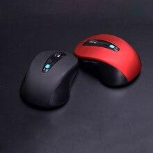Bezprzewodowa mysz optyczna 1600 DPI optyczna USB bezprzewodowa mysz komputerowa z 2.4G odbiornik MIni myszka do PC na laptopa