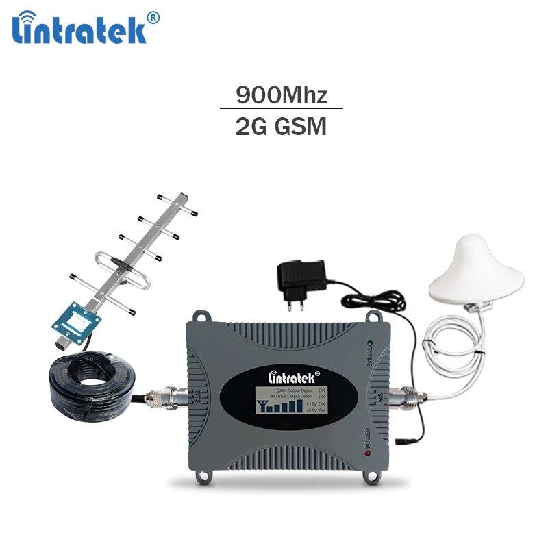 Lintratek 900 Mhz GSM amplificateur de signal 2g 3g répéteur de signal de téléphone portable gsm/umts 900 65dBi amplificateur LCD kit complet #5.9