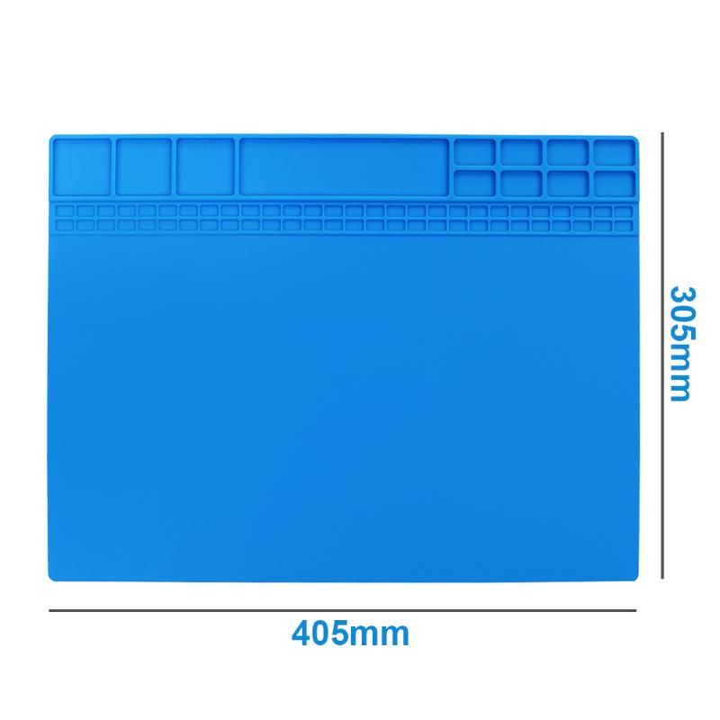 40X30CM Heat Insulation Silicone Pad Desk Mat Maintenance Platform For Electrical BGA Soldering Repair Station Mat Section