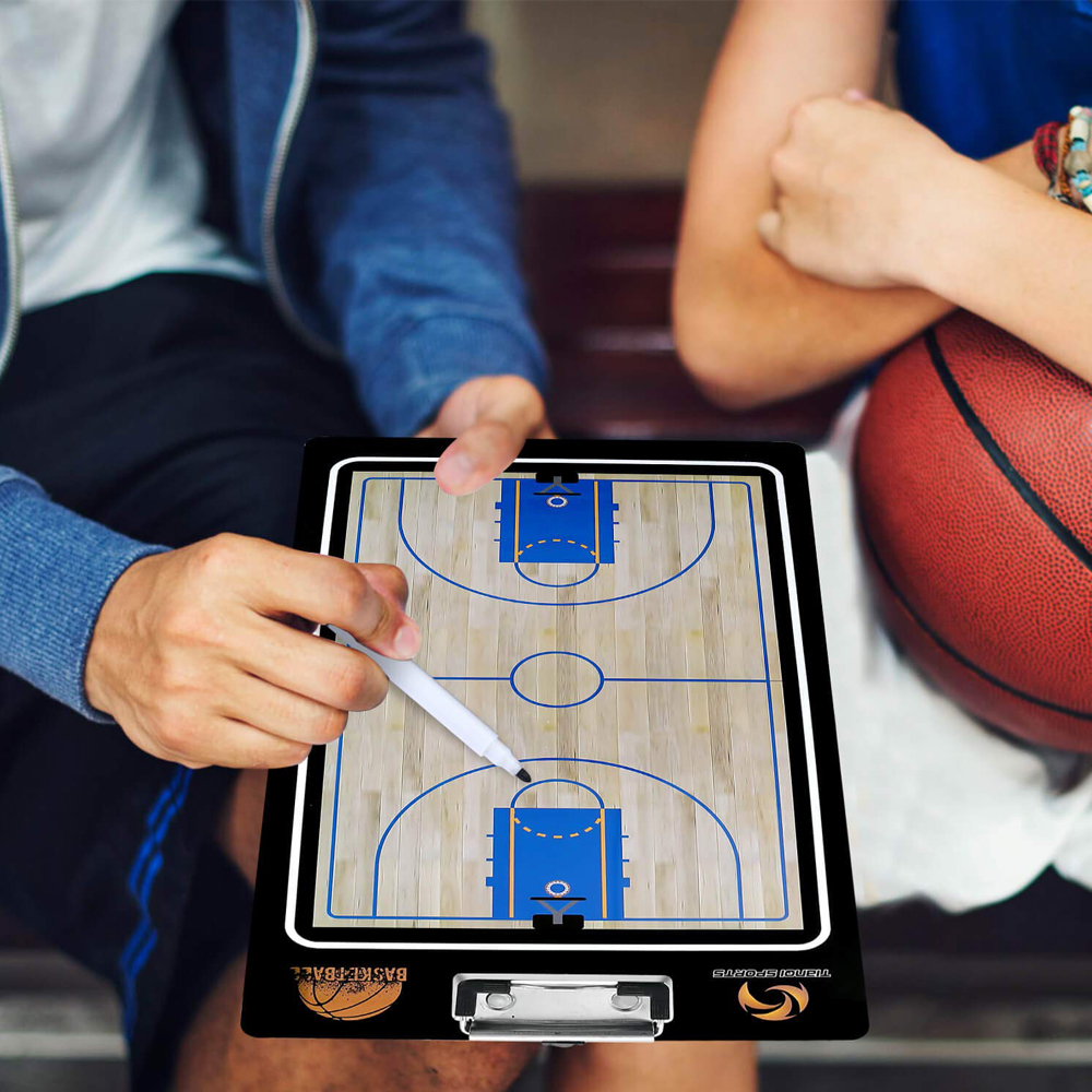 New Magnetic Basketball Coaching Board Folding Thick Coach Board Tactics Set With Pen Teaching Clipboard Factory Sale
