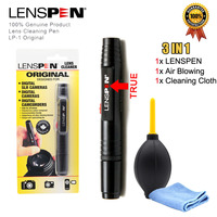 LENSPEN 3IN1 Camera Cleaning Kit Suit Dust Cleaner Brush Air Blower Wipes Clean Cloth kit for Gopro Canon Nikon Camcorder VCR