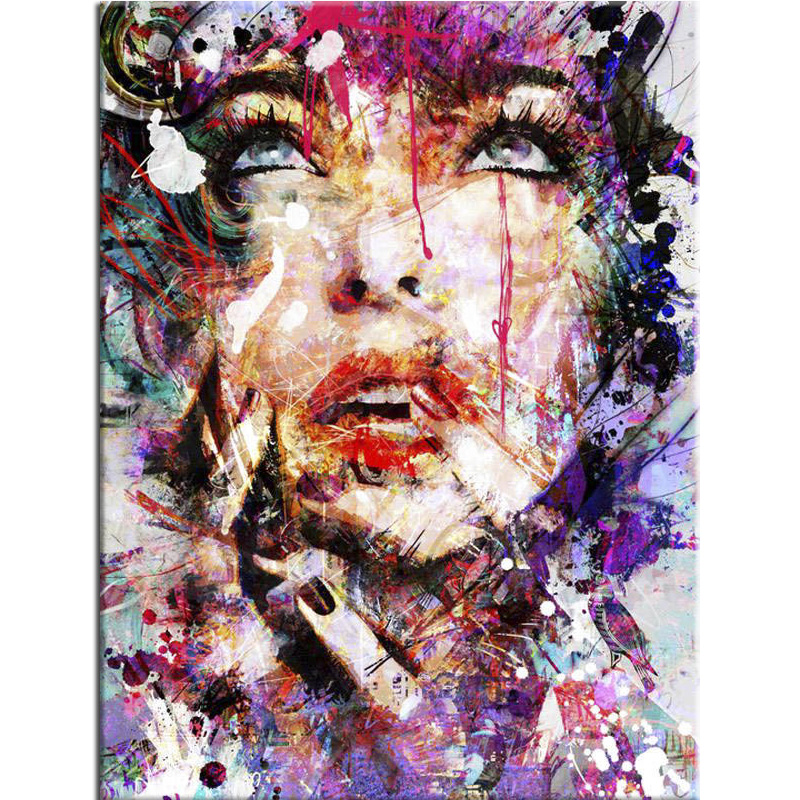 100% Full 5D Diy Daimond Painting Abstract Women Diamond Painting Round Rhinestones Full Diamant Painting Embroidery Decoration