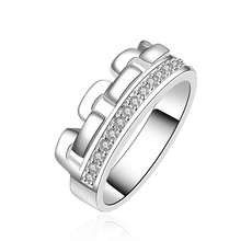 hot deal buy 925 silver rings with natural stone crystal diamond lord of the ring diamond jewelry vintage wedding rings gift for women r602