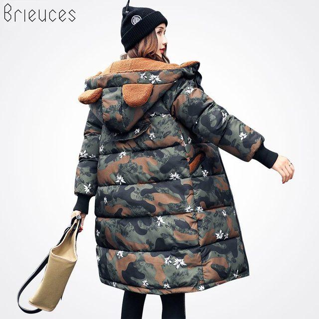 Brieuces Autumn Winter Jacket Women Cotton Jacket Plus Size 3XL Winter Coat Women Thicken Warm Parka Female Hooded Outwear