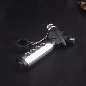 Image 2 - Torch Turbo Lighter Jet Butane Cigar Lighter Gas Cigarette 1300 C Spray Gun Fire Windproof Lighter No Gas