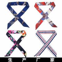 On-Sale 2018 New Arrivals Bag Scarf Print Silk Scarf Women Small Bag Ribbon Fashion Female Hair Ribbons Fashion Handbag Scarves