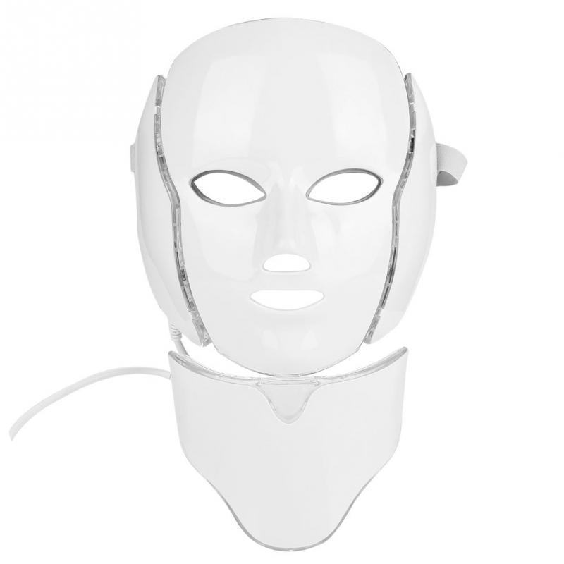 Face Skin Care 7 Colors Photon Led Mask Face Neck Anti Wrinkle Acne