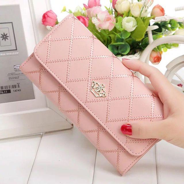 Ladies Leather Long Wallet