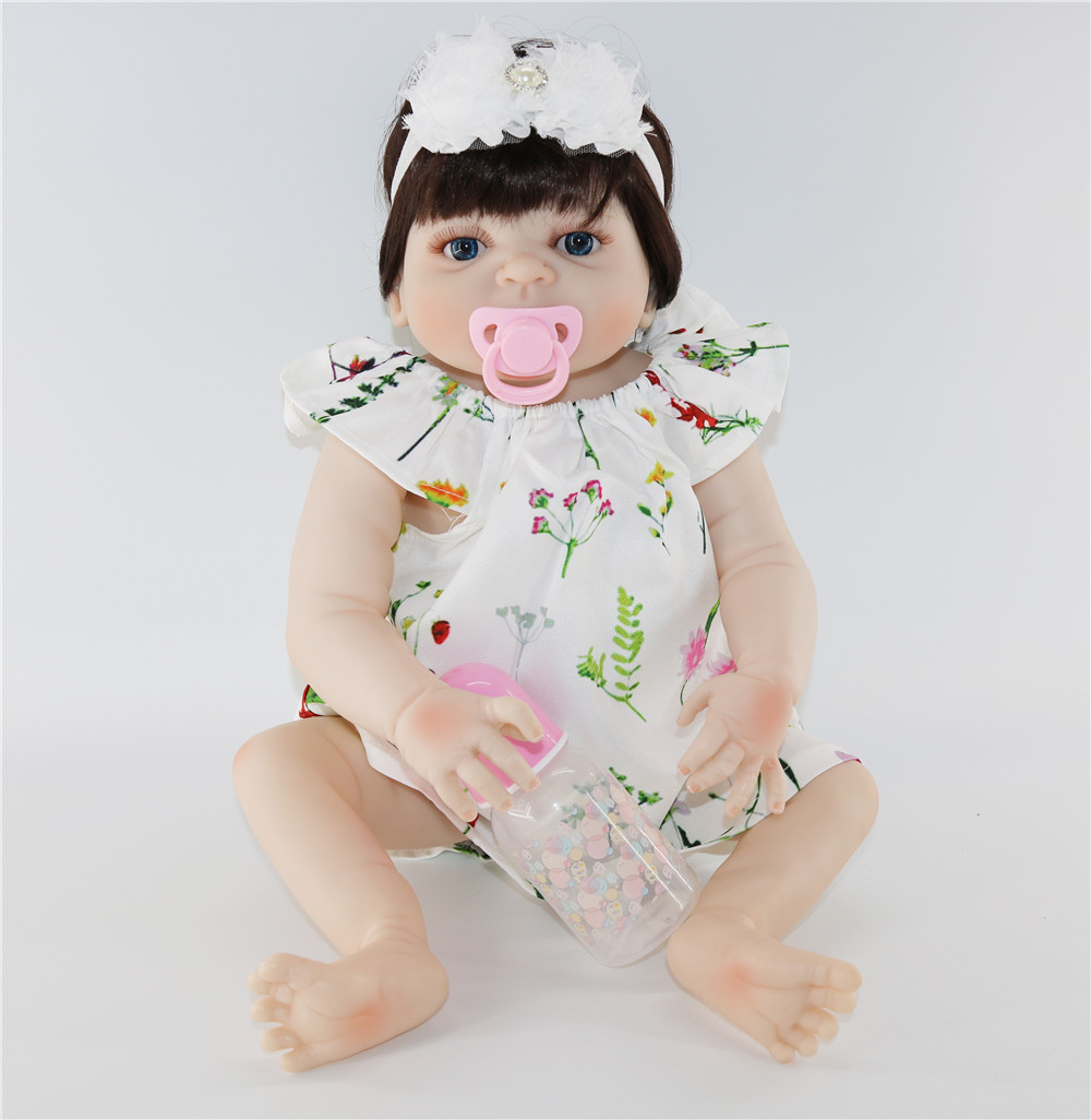 23 Lifelike Reborn Baby Dolls White Skin Babies Doll Full Vinyl Body So Truly waterproof bebe Doll For Toddler bebe Toy Gifts23 Lifelike Reborn Baby Dolls White Skin Babies Doll Full Vinyl Body So Truly waterproof bebe Doll For Toddler bebe Toy Gifts